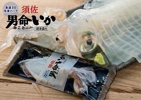 自宅で透明感を再現! 須佐男命いかの姿造り(刺身)特殊冷却「3D冷凍」パック 2個セット