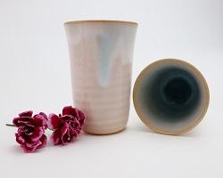 [№5226-0174]萩焼 ソライロ ペアカップ