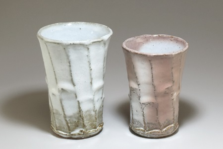 [№5226-0343]萩焼 窯変フリーカップ・ペア
