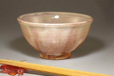 [№5226-0340]萩焼 ごはん茶碗(粉引)