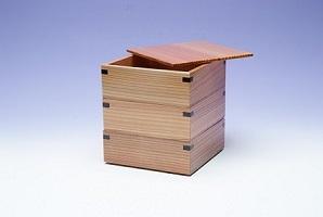 松花堂三段塗り箱