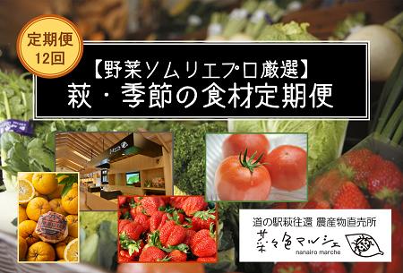 [№5226-0038]【野菜ソムリエプロ厳選】萩・季節の食材定期便【12回コース】