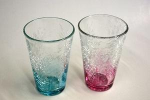 萩ガラス・内貫入テーパーグラス(耐熱品) 2個