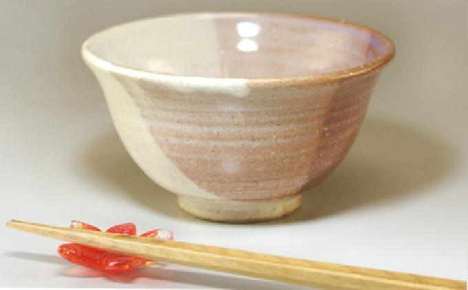 [№5226-0329]萩焼 ごはん茶碗 (掛分け)