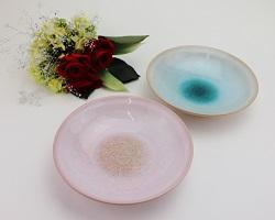 萩焼 ガラス釉 ペア鉢