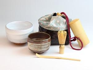 [№5226-0146]萩焼 旅茶器セット