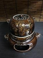 須佐唐津焼 香炉(茶釜形)