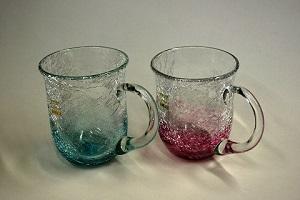 萩ガラス・内貫入マグカップ(耐熱品) 2個