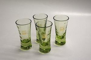 萩ガラス・銀箔入り ぐい飲み4個
