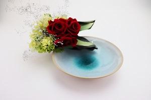 [№5226-0168]萩焼 ソライロ 鉢