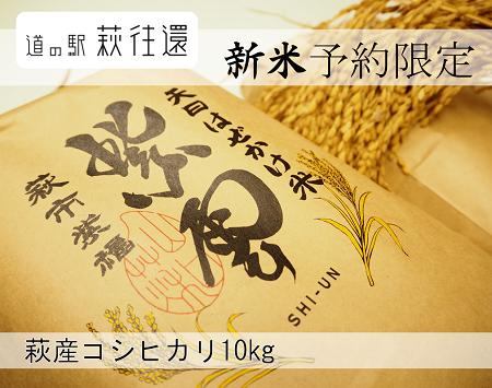 [№5226-0044]【新米予約限定受付!萩産コシヒカリ】紫雲 はぜかけ米10kg