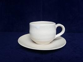 [№5226-0026]萩焼 姫土コーヒーセット