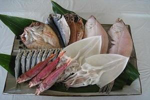 萩のブランド魚を含む一夜干詰合わせ