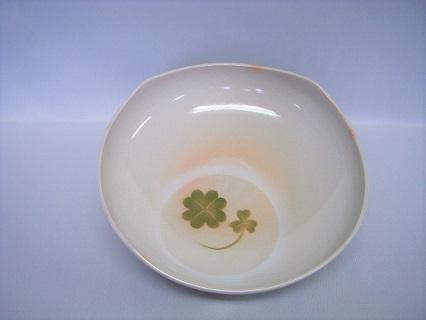 [№5226-0109]萩焼 四つ葉のクローバー四方鉢