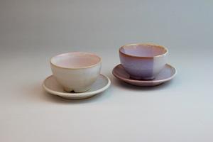 [№5226-0152]萩焼 Shikisai まめ碗皿セット