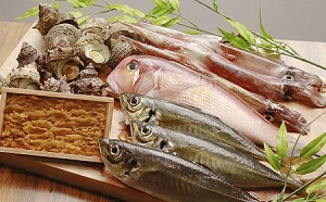 [№5226-0297]鮮魚セット ウニ サザエ付き