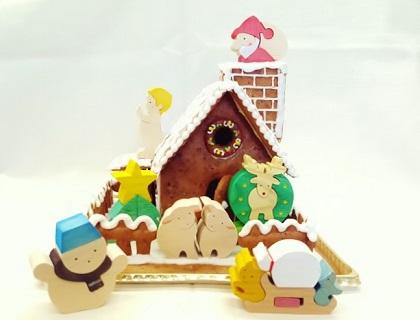 【クリスマス特別企画♪】あったか木のおもちゃとハチミツ香るお菓子の家セット
