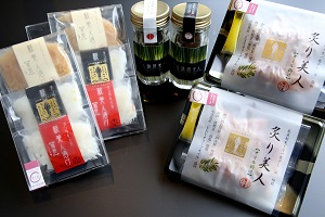 東洋美人×イカ専門店のコラボレーション「イカ美人三姉妹セット」